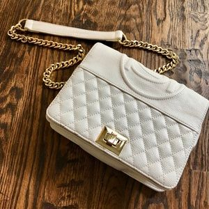 Bebe White Faux Leather Purse